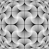 Design monochrome warped decorative pattern