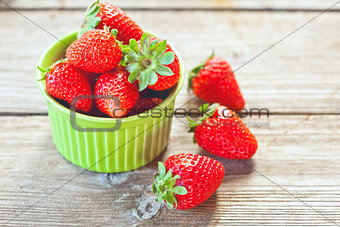 bowl filled with fresh strawberries
