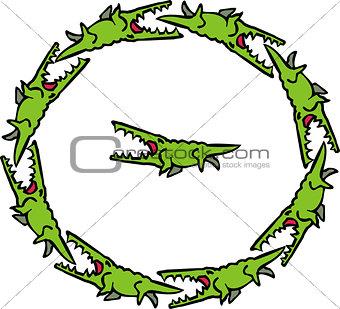 circle of crocodiles