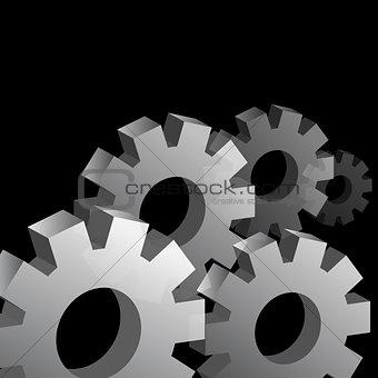 Three Dimensional Cog Wheel Background