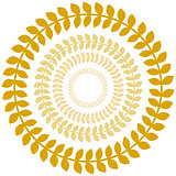 Gold Laurel Wreath Circle Set