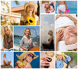 Female Woman Girl Healthy Travel Lifestyle Montage