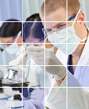 Male & Female Scientific Researchers in Laboratory