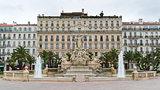 Place de la Libertà - fountain of Liberty square in Toulon