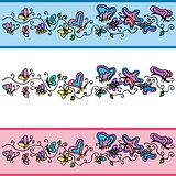 Butterfly Banner Set
