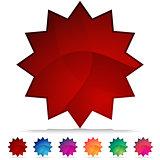 Starburst Mosaic Crystal Button Set