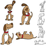 Cartoon Dog Set