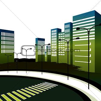 City View with Crosswalk