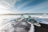Ice melting on the beach