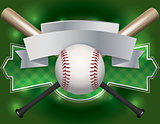 Baseball Emblem and Banner Illustration
