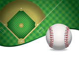 Baseball and Baseball Field Background Illustration