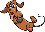 cute happy dog cartoon illustration