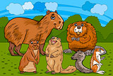 rodents animals cartoon illustration