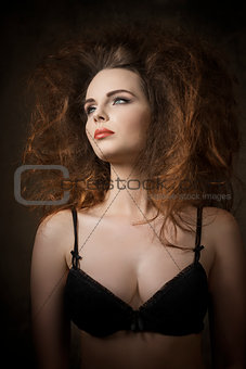woman with voluminous hair-style