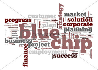 Blue chip word cloud