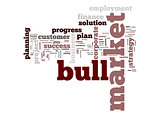 Bull market word cloud