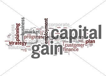 Capital gain word cloud