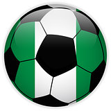 Nigeria Flag with Soccer Ball Background