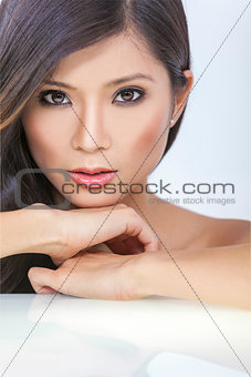 Beautiful Asian Chinese Woman Girl Face