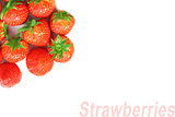 Background of red strawberries