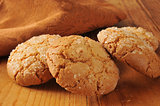 Gourmet almond ginger cookies