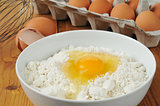 Eggs and baking mix