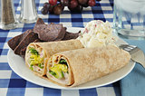 turkey wrap sandwiches