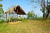 Relaxing point on scenic area at Phu Kha park,Thailand