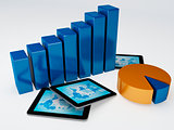 Tablet pc and business graph