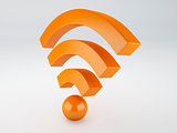 wifi icon. 3d illustration