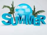 word summer 3D Illustration