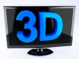 3d tv, technology concept. isolated white