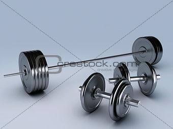 black dumbbells for fitness