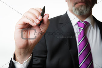 business man with marker
