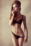erotic girl in lingerie