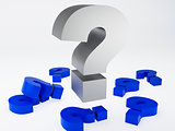 Question mark sign. isolated white