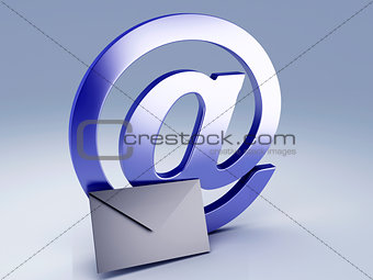 AT symbol and Email icon.
