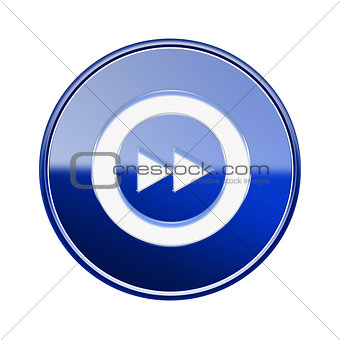Forward icon glossy blue, isolated on white background