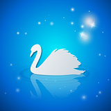 Background with white swan