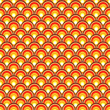 retro background with orange circles