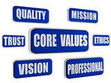 core values - blue business concept banners