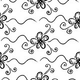 Vector seamless floral background. on white background