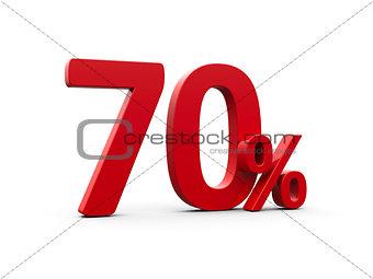 Red seventy percent