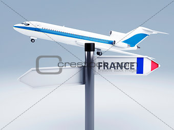signpost.travel to europe concept 3d