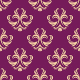 Purple and beige seamless floral pattern