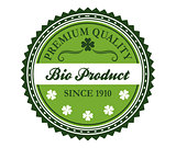 Green bio product label design