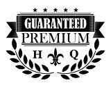 Guaranteed premium banner in retro style