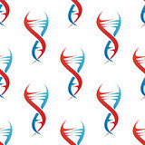 Stylized DNA spiral helix seamless pattern