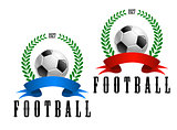 Football or soccer retro emblem