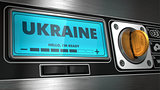 Ukraine on Display of Vending Machine.